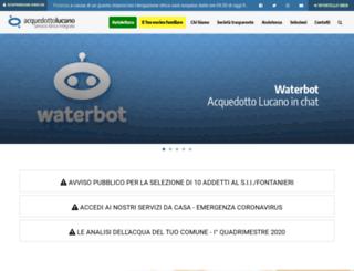 acquedottolucano.it screenshot