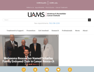 acrc.uams.edu screenshot