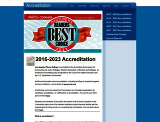 acred.piercecollege.edu screenshot