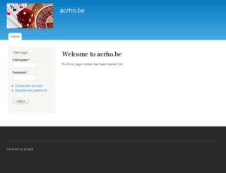 acrho.be screenshot