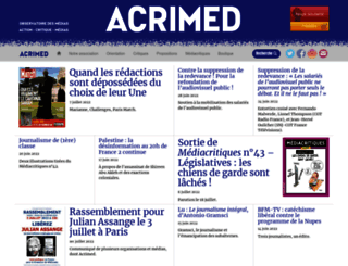 acrimed.org screenshot