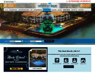 acronwaterfrontresortgoa.com screenshot