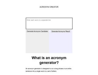 acronymcreator.net screenshot