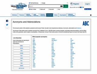 acronyms.thefreedictionary.com screenshot