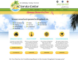 acservicecenter.com screenshot