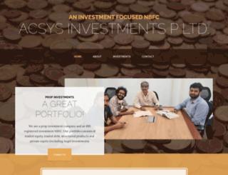 acsysindia.com screenshot