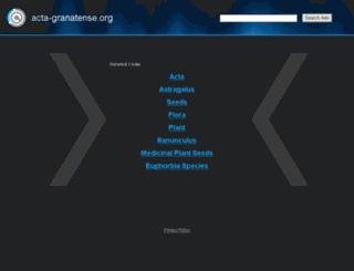 acta-granatense.org screenshot