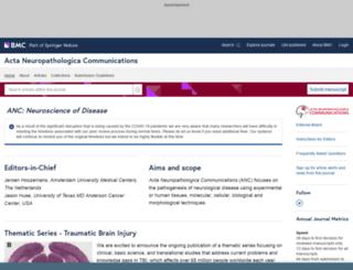 actaneurocomms.biomedcentral.com screenshot
