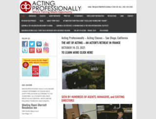actingprofessionally.com screenshot