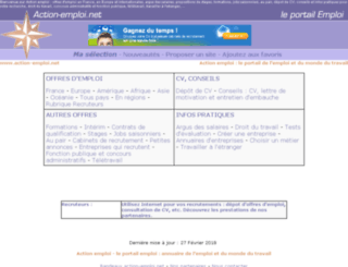 action-emploi.com screenshot