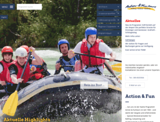 action-fun-rafting.de screenshot