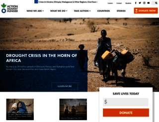 actionagainsthunger.org screenshot