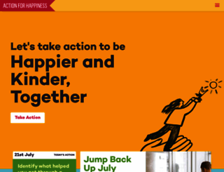 actionforhappiness.org screenshot