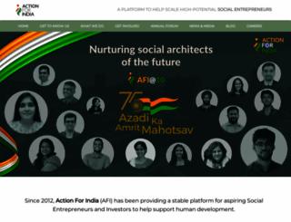 actionforindia.org screenshot