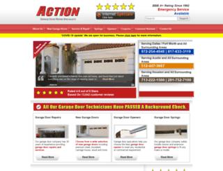 actiongaragedoor.com screenshot