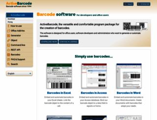 activebarcode.com screenshot