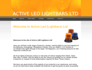 activeledlightbars.co.uk screenshot