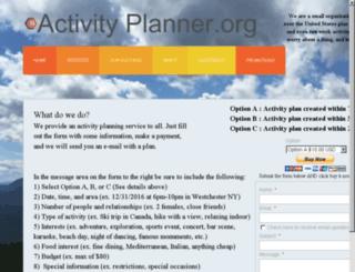 activityplanner.org screenshot