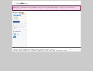 actonsoftwareinc.insidesales.com screenshot