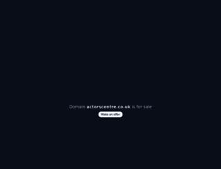 actorscentre.co.uk screenshot
