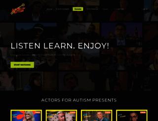actorsforautism.org screenshot