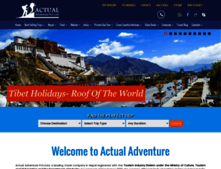 actual-adventure.com screenshot