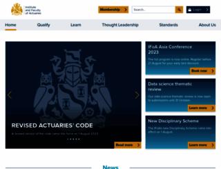 actuaries.org.uk screenshot