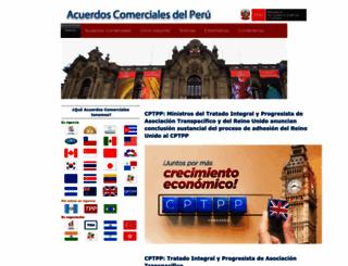 acuerdoscomerciales.gob.pe screenshot