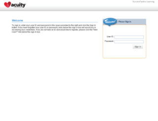 acuity.plateau.com screenshot