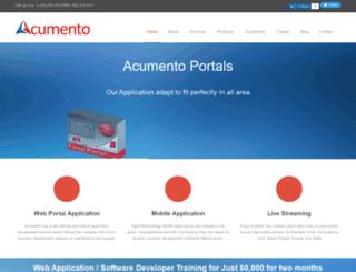 acumento.com screenshot