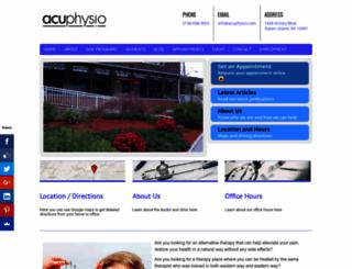 acuphysio.com screenshot