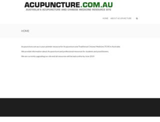 acupuncture.com.au screenshot