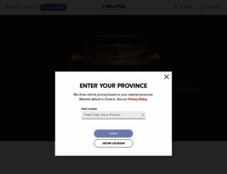 acura.ca screenshot