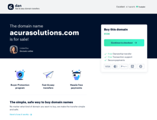 acurasolutions.com screenshot