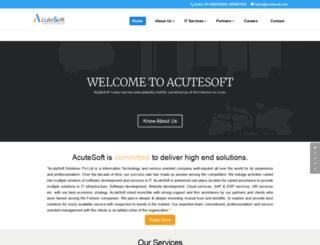 acutesoft.com screenshot
