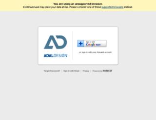 adaldesign.harvestapp.com screenshot