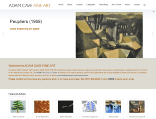 adamcavefineart.com screenshot