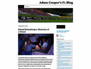 adamcooperf1.com screenshot