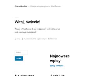 adamgondek.pl screenshot