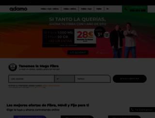 adamo.es screenshot