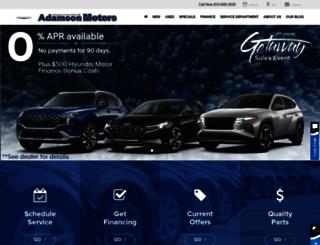 adamsonmotors.com screenshot