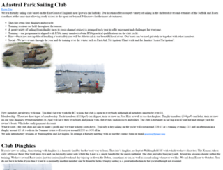 adastralsailing.org.uk screenshot