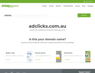 adclicks.com.au screenshot