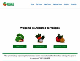addictedtoveggies.com screenshot