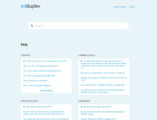adduplex.zendesk.com screenshot