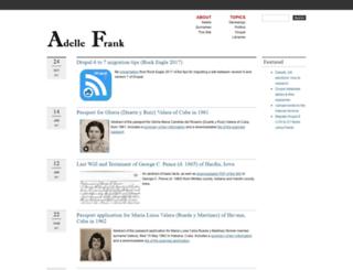adellefrank.com screenshot