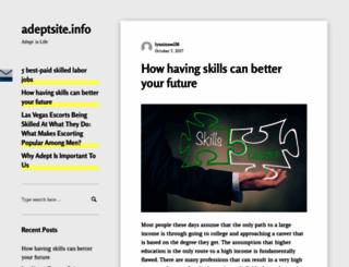 adeptsite.info screenshot