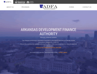 adfa.arkansas.gov screenshot