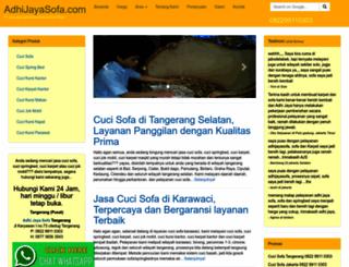 adhijayasofa.com screenshot