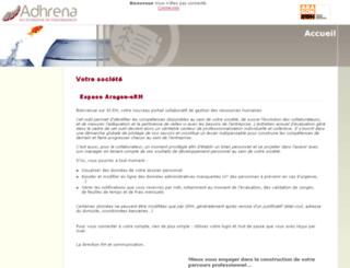 adhrena.aragon-erh.com screenshot